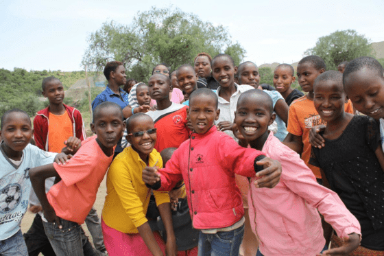 Children from Siyiapei Children's Home having fun